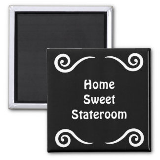 Home Sweet Stateroom Door Marker 2 Inch Square Magnet