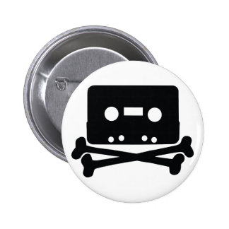 Home Taping Skull Logo Button