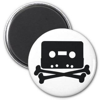 Home Taping Skull Logo Magnet