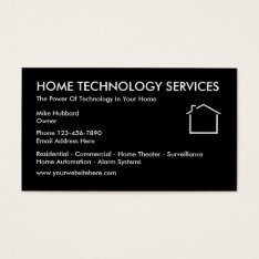 Home Technology Business Cards at Zazzle