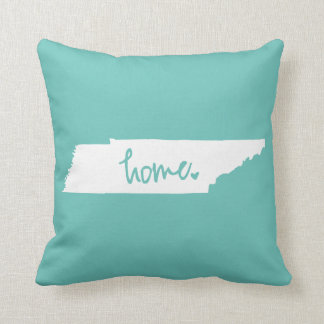 Home Tennessee Custom Color Throw Pillow
