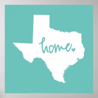 Home Texas Custom Color Poster