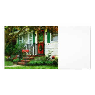 Home that Always Celebrates Christmas Photo Card Template