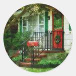 Home that Always Celebrates Christmas Classic Round Sticker
