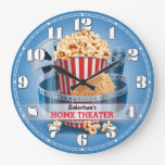 Home Theater Cinema Personalizable Wall Clock at Zazzle