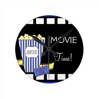 Home Theater-Popcorn Round Wall Clock