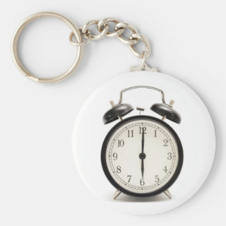Home time!! Cute vintage clock Basic Round Button Keychain