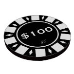 Home Tournament Poker Chips Black $100 Your Brand