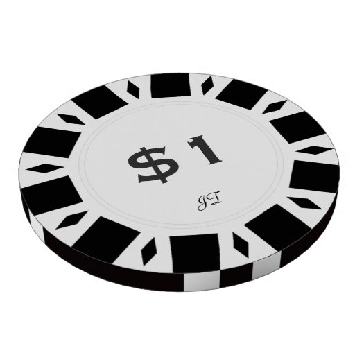 Home Tournament Poker Chips White $1 w/ Your Brand