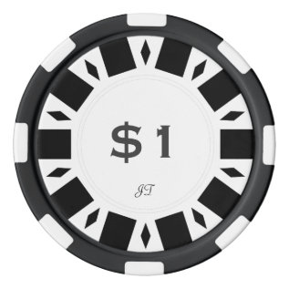 Home Tournament Poker Chips White $1 W/ Your Brand at Zazzle