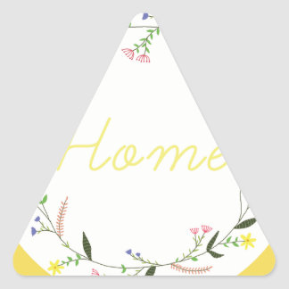 Home Triangle Sticker
