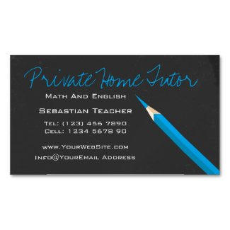 Home Tutor Teacher Pencil Magnetic Business Card