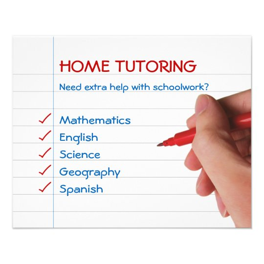 Home Tutoring Flyer  Zazzle