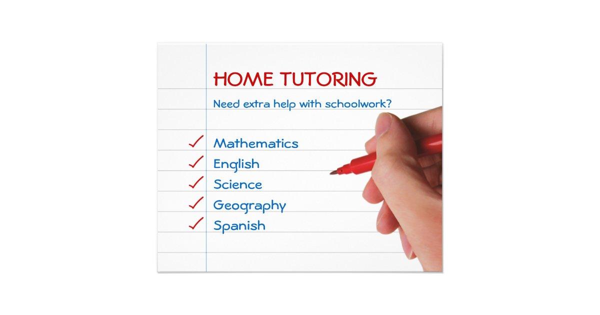 sample tutoring flyer