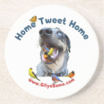 Home Tweet Home Bird Dog Drink Coasters