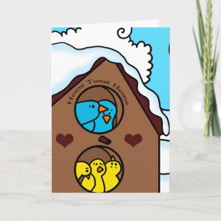 Home Tweet Home Blank Greeting Card