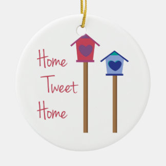 Home Tweet Home Double-Sided Ceramic Round Christmas Ornament