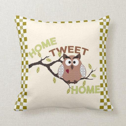 Home Tweet Home PIllow