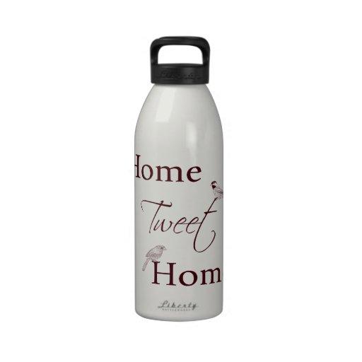 Home Tweet Home Reusable Water Bottle