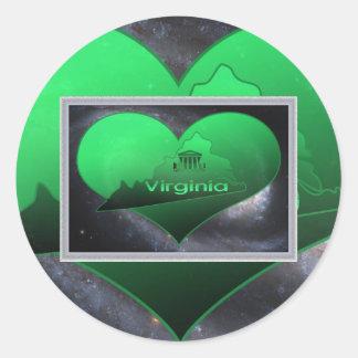 Home Virginia, Home Virginia Classic Round Sticker