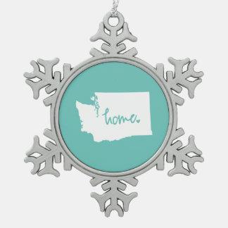 Home Washington Custom Color Snowflake Pewter Christmas Ornament