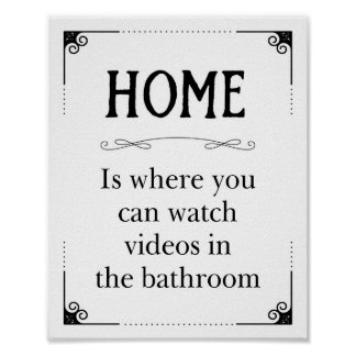 Home Watch Videos In The Bathroom Funny Decor
