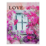 Home Watercolor Office Decor Matte Poster