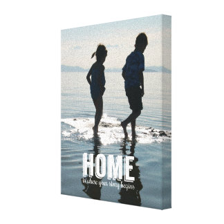 Home, Where Your Story Begins Family Photo Canvas Gallery Wrapped Canvas