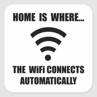 Home WiFi Square Sticker