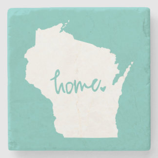 Home Wisconsin Custom Color Stone Coaster