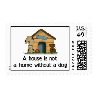 Home With A Dog Postage Stamp