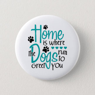 Home With Dog Button