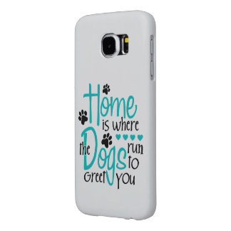Home With Dog Samsung Galaxy S6 Case