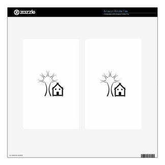 Home with green decals for kindle fire
