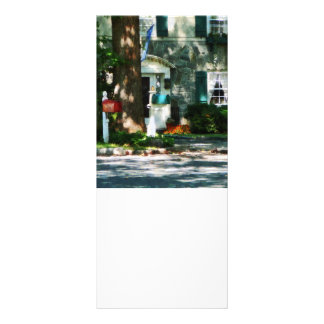 Home With Turquoise Shutters Personalized Rack Card
