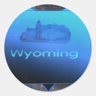 Home Wyoming Classic Round Sticker