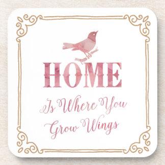 Home you grow wings Coasters