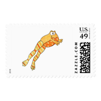 Homeberries Leap Frog Postage Stamp