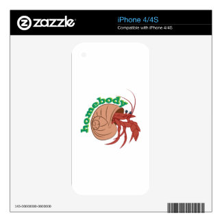 Homebody Crab iPhone 4S Decal