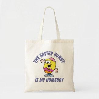 Homeboy del conejito de pascua bolsa tela barata
