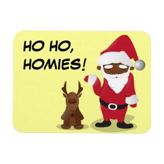 Homeboys de las Felices Navidad: Santa negro y Bli Imanes Flexibles