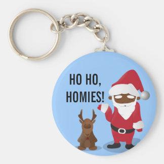 Homeboys de las Felices Navidad: Santa negro y Bli Llaveros Personalizados