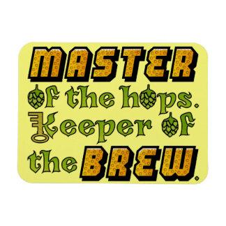 Homebrew Beer Brewer Vinyl Magnets