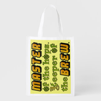 Homebrew Beer Brewer Reusable Grocery Bags