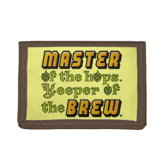 Homebrew Beer Brewer Trifold Wallets