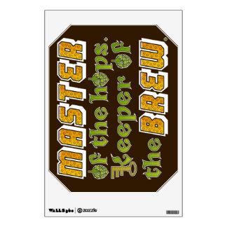 Homebrew Beer Brewer Room Sticker
