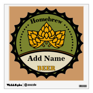 Homebrew Beer Sign, edit name Wall Decal