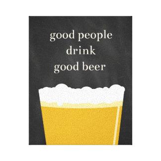 Homebrew Craft Beer Poster - Good People Good Beer Canvas Print
