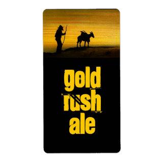 Homebrew labels Miner Gold Rush Prospector & Mule