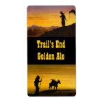 Homebrew labels Western Trails End Golden Ale